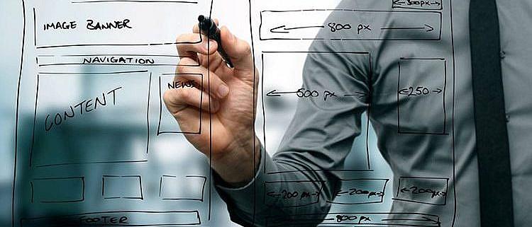 WireFrame ابزار تفکیک محتوا از دیزاین در طراحی وب